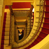 Red And Gold Staircase